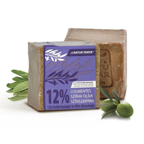 Szíriai oliva színszappan 12% babérolajjal 200 g - Natúr Tanya