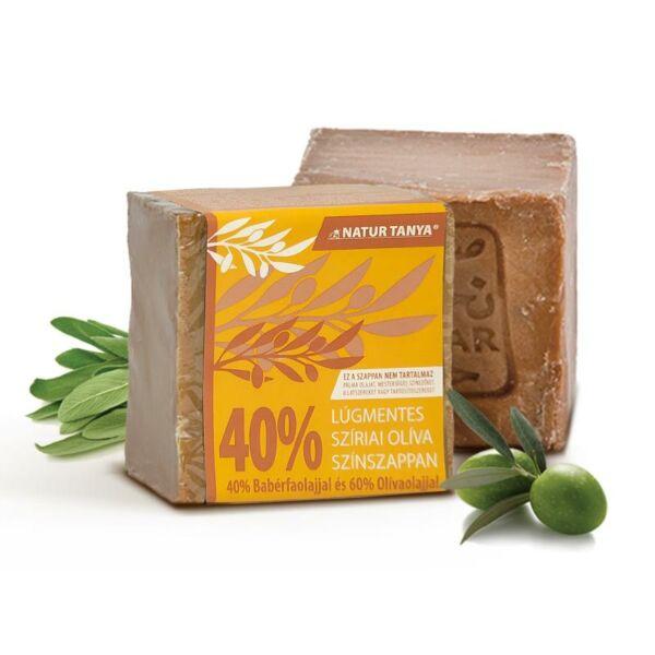 Szíriai oliva színszappan 40 % (!) babérolajjal 185 g - Natúr Tanya