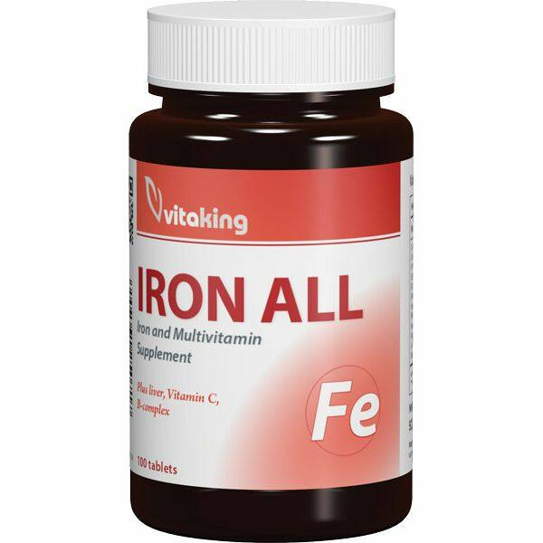 Vas-komplex tabletta 100 db - Vitaking