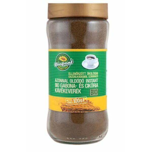 Gabonakávé-keverék instant bio üveges 100 g - Biopont