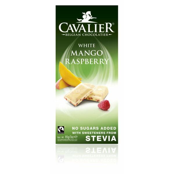 Fehércsokoládé mangóval és málnával 85 g - Cavalier