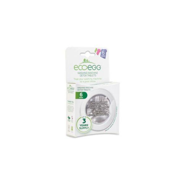 ECOEGG DETOX mosógéptisztító tabletta, 6 darab