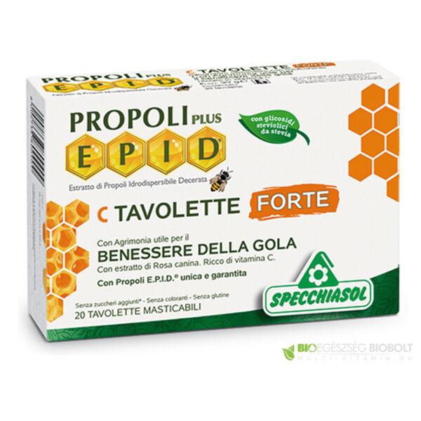 Cukormentes propolisz FORTE szopogatós tabletta C vitaminnal 20 db - Specchiasol