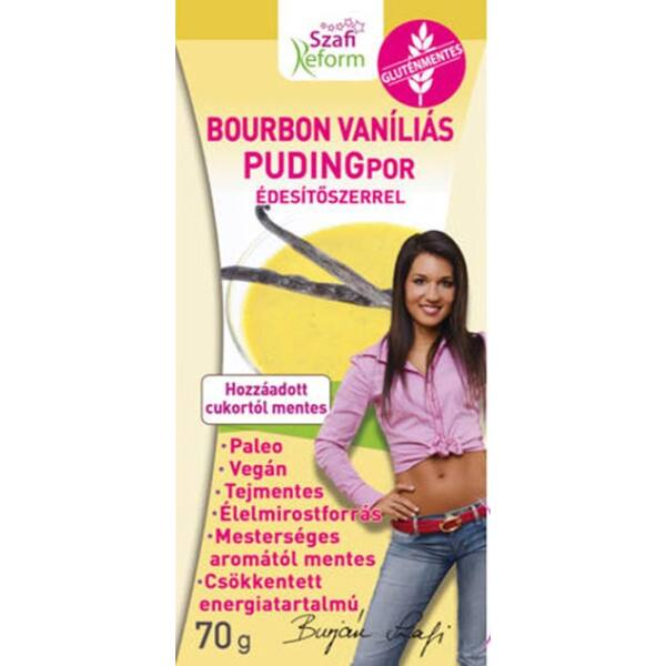 Pudingpor bourbon vanília 70 g - Szafi Reform