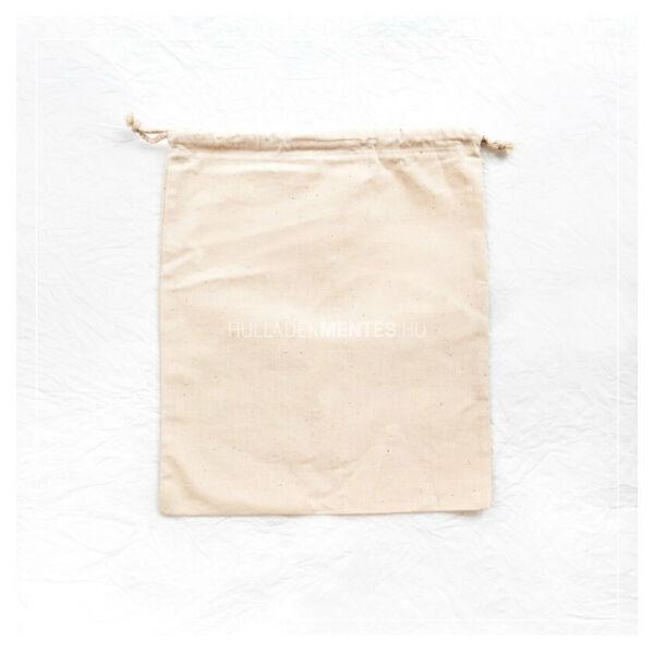 Zsinóros vászonzsák L (34x38 cm)