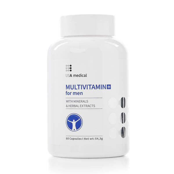 Multivitamin férfiaknak 60 kapszula - USA Medical