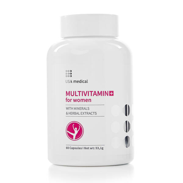 Multivitamin nőknek 60 kapszula - USA Medical