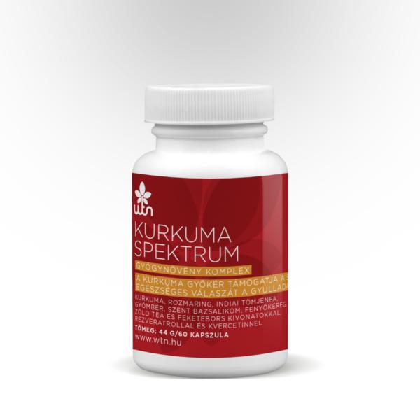 Kurkuma spektrum gyógynövény komplex 60 db - Wise Tree Naturals