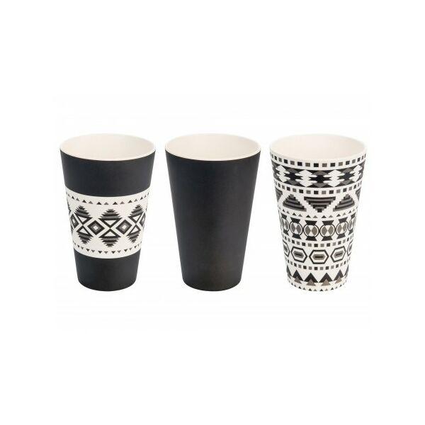 Bambusz pohárszett 400 ml 3 db-os aztec - Woodway