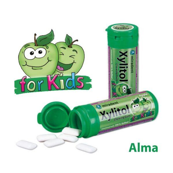 Gyermek rágógumi alma ízű 30 db - Xylitol Kids